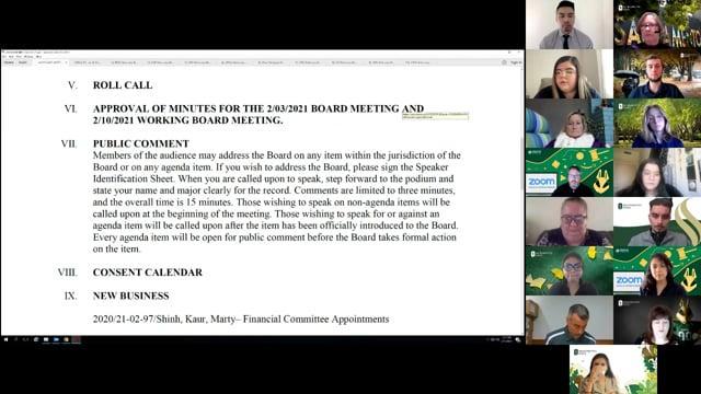 ASI Board Meeting 2-18-2021