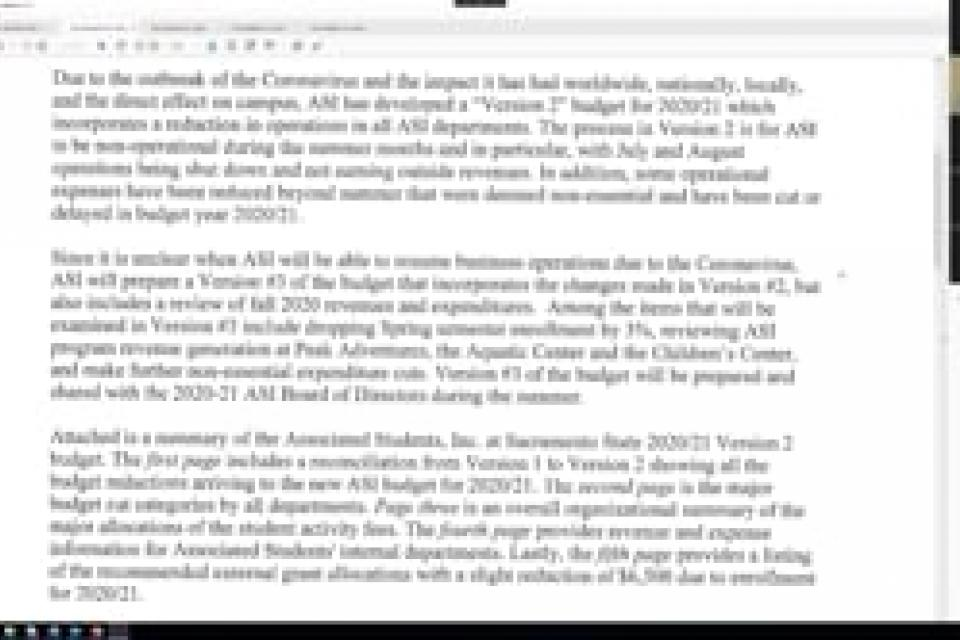 ASI Board Meeting 5-6-2020
